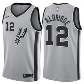 Camiseta LaMarcus Aldridge #12 San Antonio Spurs 17/18 Gris Statement Edition
