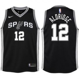 Camiseta LaMarcus Aldridge #12 San Antonio Spurs 17/18 Negro Icon Edition