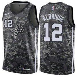 Camiseta LaMarcus Aldridge #12 San Antonio Spurs 17/18 Negro City Edition