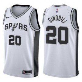 Camiseta Manu Ginóbili #20 San Antonio Spurs 17/18 Blanco Association Edition