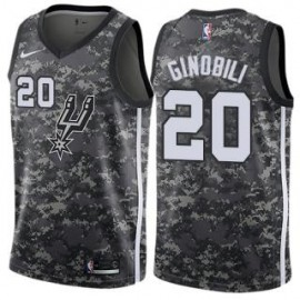 Camiseta Manu Ginóbili #20 San Antonio Spurs 17/18 Negro City Edition