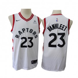 Camiseta Fred VanVleet #23 Toronto Raptors Blanco New Edition