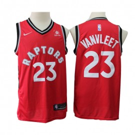 Camiseta Fred VanVleet #23 Toronto Raptors Rojo New Edition