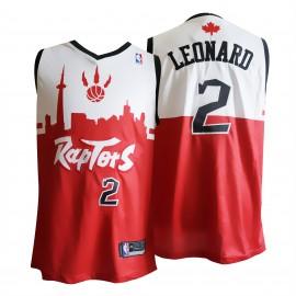 Camiseta Kawhi Leonard #2 Toronto Raptors 19/20 Blanco Rojo
