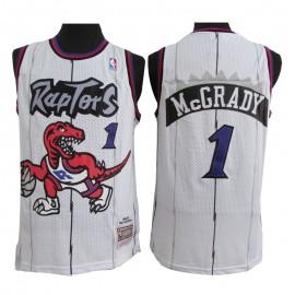 Camiseta Tracy McGrady #1 Toronto Raptors Blanco Classic Edition