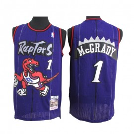 Camiseta Tracy McGrady #1 Toronto Raptors Púrpura Classic Edition