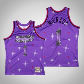 Camiseta Tracy McGrady #1 Toronto Raptors Púrpura Star Edition