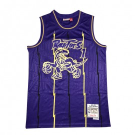 Camiseta Tracy McGrady #1 Toronto Raptors Púrpura Mouse Limited Edition