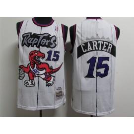 Camiseta Vince Carter #15 Toronto Raptors Blanco Classic Edition