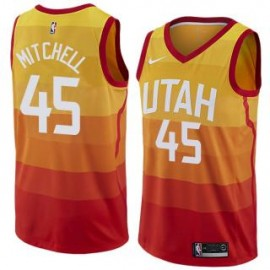 Camiseta Donovan Mitchell #45 Utah Jazz 17/18 Amarillo City Edition