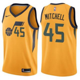 Camiseta Donovan Mitchell #45 Utah Jazz 17/18 Amarillo Statement Edition