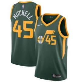 Camiseta Donovan Mitchell #45 Utah Jazz 18/19 Verde Earned Edition