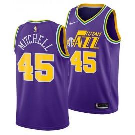 Camiseta Donovan Mitchell #45 Utah Jazz Púrpura Classic Edition