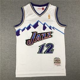 Camiseta John Stockton #12 Utah Jazz Blanco