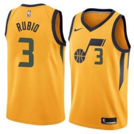 Camiseta Ricky Rubio #3 Utah Jazz 17/18 Amarillo Statement Edition