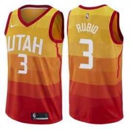 Camiseta Ricky Rubio #3 Utah Jazz 17/18 Amarillo City Edition
