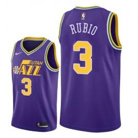 Camiseta Ricky Rubio #3 Utah Jazz Púrpura Classic Edition