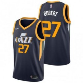 Camiseta Rudy Gobert #27 Utah Jazz 17/18 Azul Marino Icon Edition