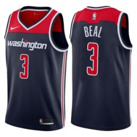 Camiseta Bradley Beal #3 Washington Wizards 17/18 Azul Marino Statement Edition