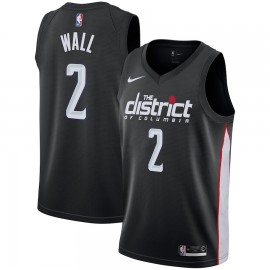 Camiseta John Wall #2 Washington Wizards 17/18 Negro City Edition