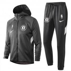 Chandal Brooklyn Nets Con Capucha Gris