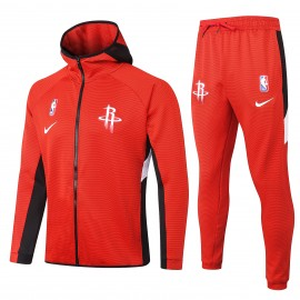 Chandal Houston Rockets Con Capucha Rojo