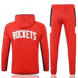 Chandal Houston Rockets Con Capucha Rojo