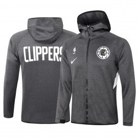 Chandal Los Angeles Clippers Con Capucha Gris