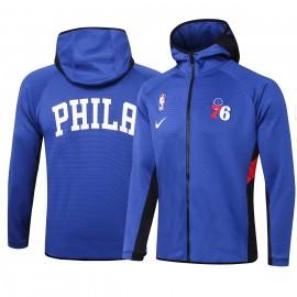 Chandal Philadelphia 76ers Con Capucha Azul