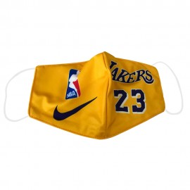 Mascarilla de Tela 23 Los Angeles Lakers Amarillo Adulto