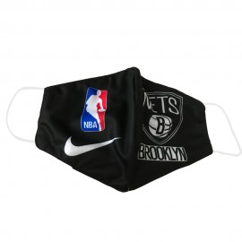 Mascarilla de Tela Brooklyn Nets Negro Adulto