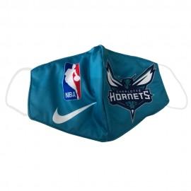 Mascarilla de Tela Charlotte Hornets Azul Adulto