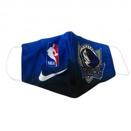 Mascarilla de Tela Dallas Mavericks Azul Adulto