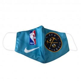 Mascarilla de Tela Denver Nuggets Azul Adulto
