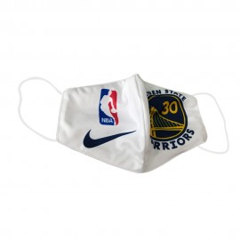 Mascarilla de Tela Golden State Warriors Blanca Adulto