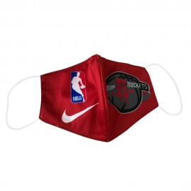 Mascarilla de Tela Houston Rockets Rojo Adulto