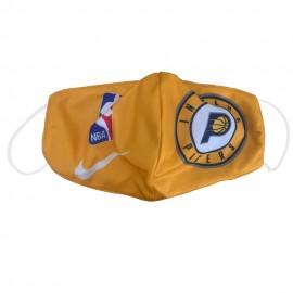 Mascarilla de Tela Indiana Pacers Amarillo Adulto