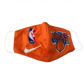 Mascarilla de Tela New York Knicks Naranja Adulto