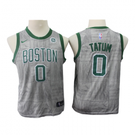 Camiseta Jayson Tatum #0 Boston Celtics 17/18 Gris City Edition Niño