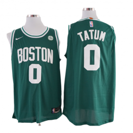 Camiseta Jayson Tatum #0 Boston Celtics Verde Niño