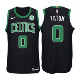 Camiseta Jayson Tatum #0 Boston Celtics 17/18 Negro Niño