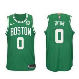Camiseta Jayson Tatum #0 Boston Celtics 17/18 Verde Niño
