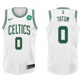 Camiseta Jayson Tatum #0 Boston Celtics 17/18 Blanco Niño