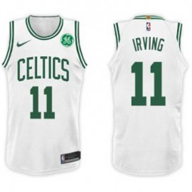 Camiseta Kyrie Irving #11 Boston Celtics 17/18 Blanco Niño