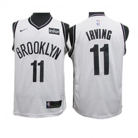 Camiseta Kyrie Irving #11 Brooklyn Nets 19/20 Blanco Fan Edition Niño