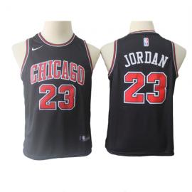 Camiseta Michael Jordan #23 Chicago Bulls 17/18 Negro Icon Edition Niño