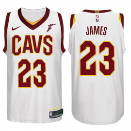Camiseta LeBron James #23 Cleveland Cavaliers Blanco Association Edition Niño