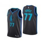 Camiseta Luka Doncic #77 Dallas Mavericks 18/19 Negro City Edition Niño