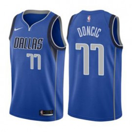 Camiseta Luka Doncic #77 Dallas Mavericks 18/19 Azul Icon Edition Niño