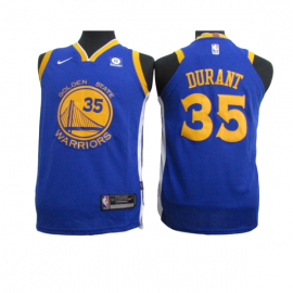 Camiseta Kevin Durant #35 Golden State Warriors Azul Niño